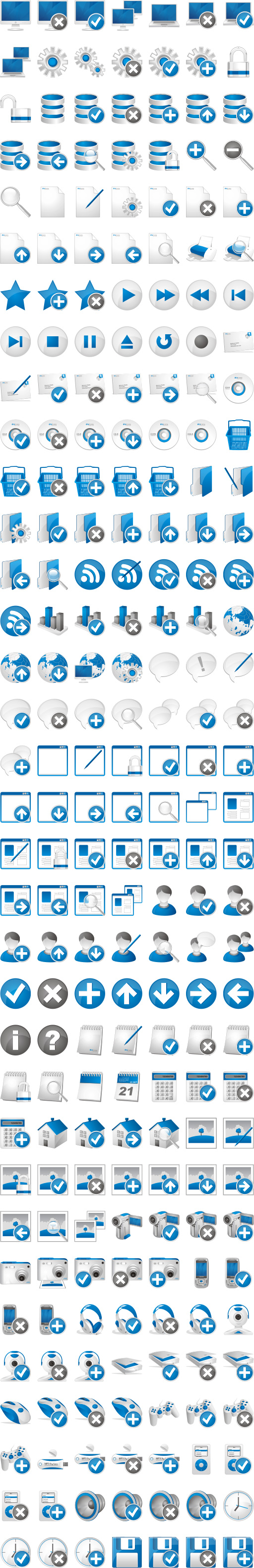 Free Blue Extended Icons Download