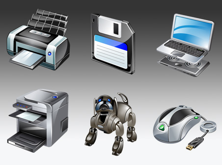 Free vista computer gadgets icons Download