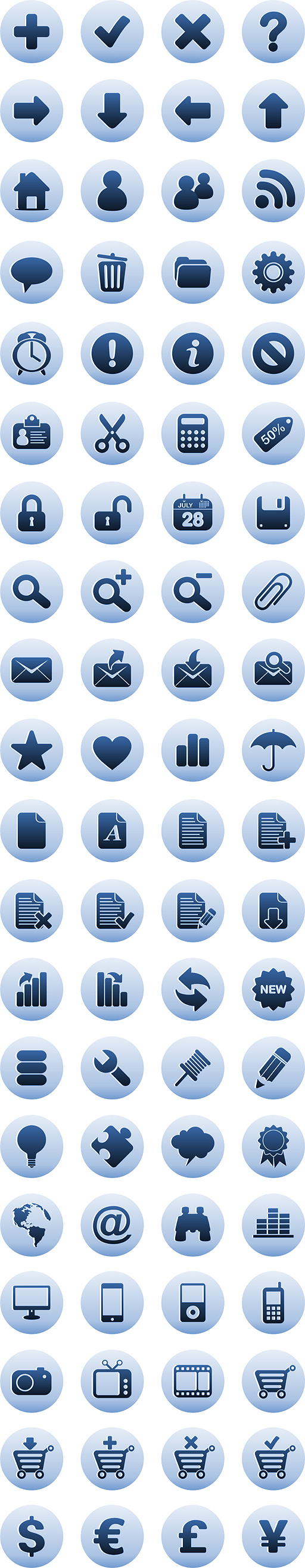 Free Luna Blue Icons Download