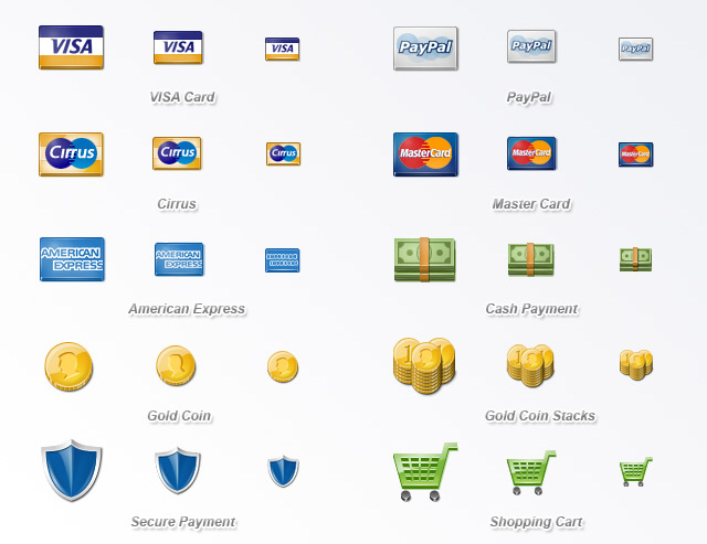 Free Payment Icon Set Download