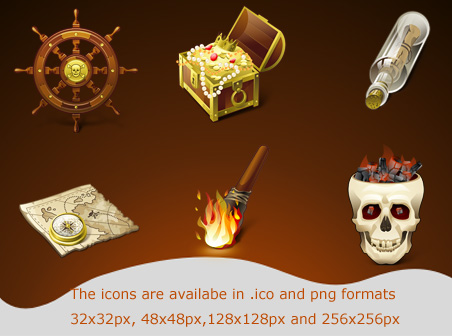 Free pirates icons Download