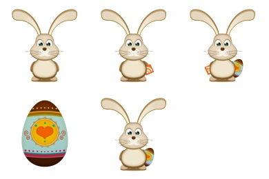 Easter Bunny Egg Icons
