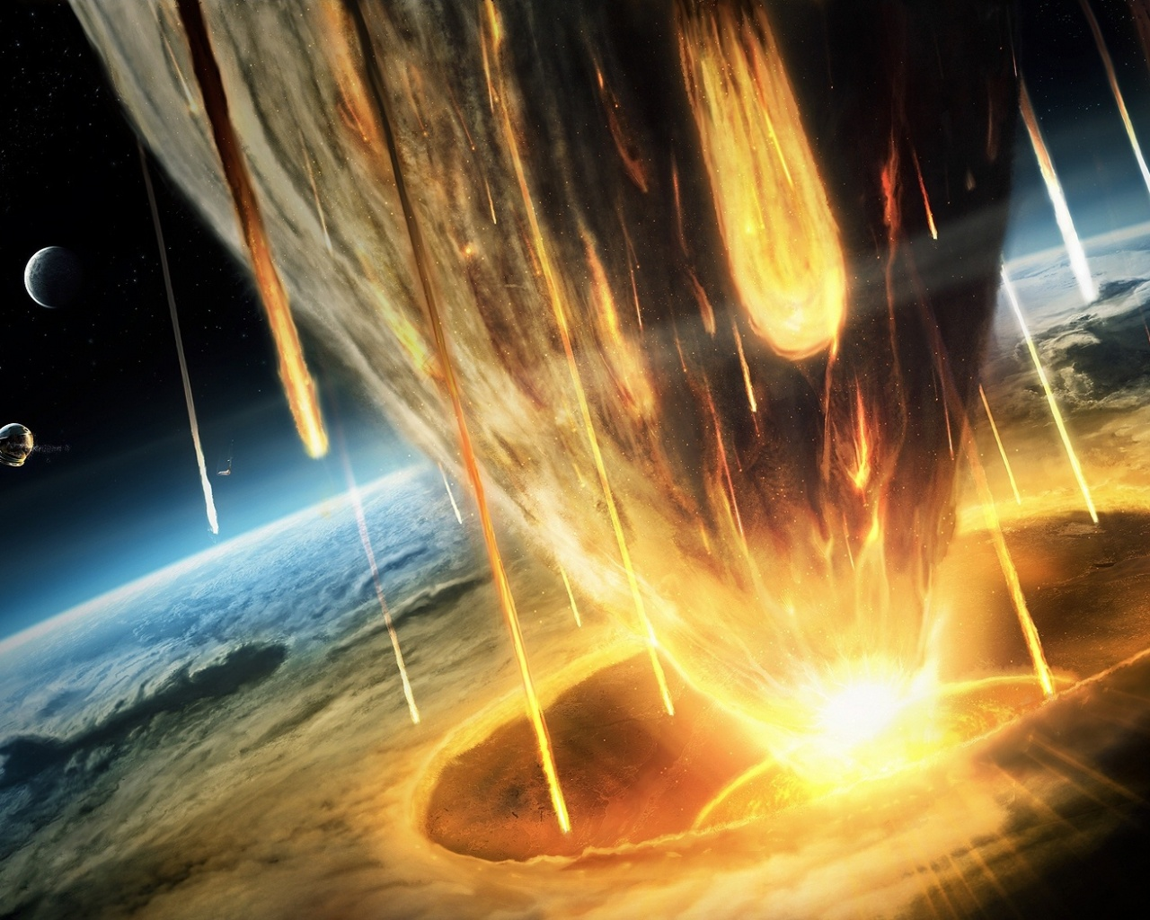 The fall of an asteroid desktop wallpapers Download