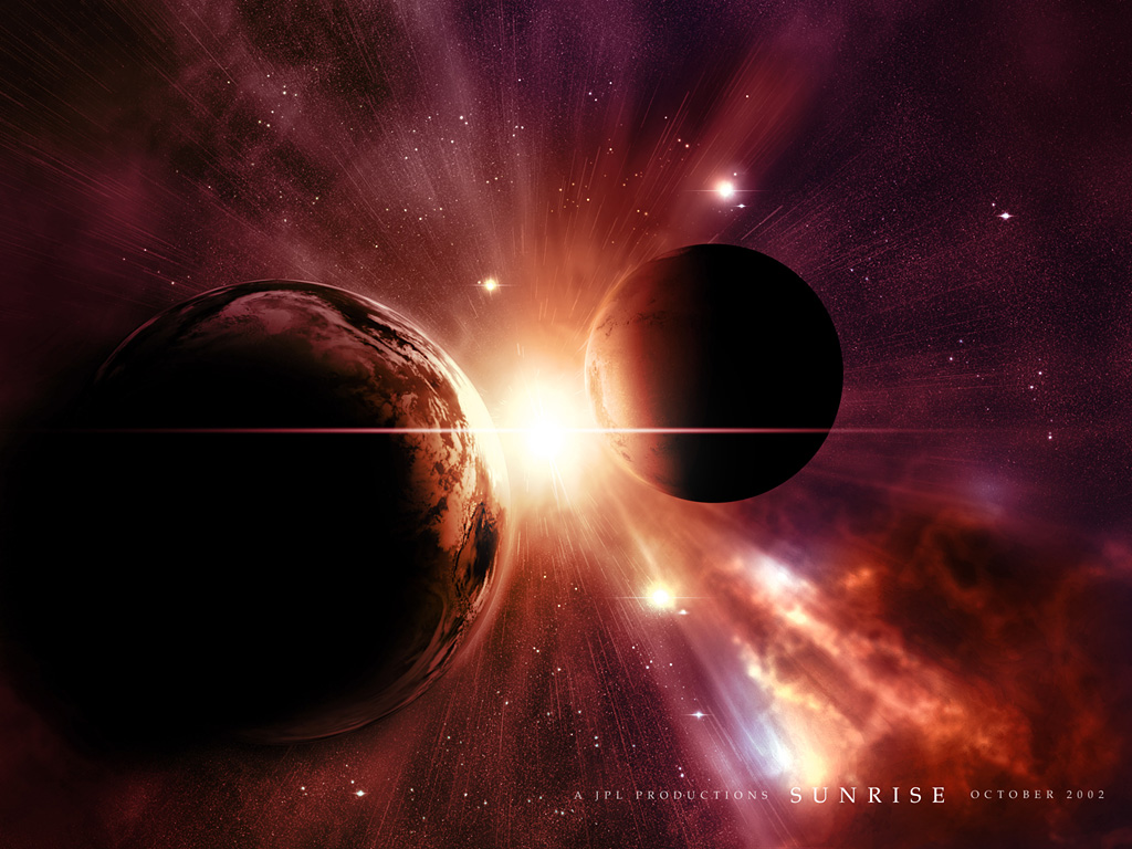 Planets Collision desktop wallpapers Download