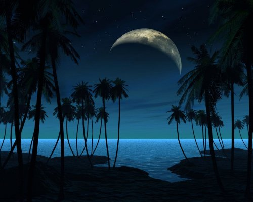 3D Exotic Blue Sky desktop wallpape Download