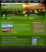 Agriculture Company - Website template