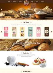 Bakery - HTML template