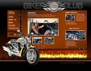 Biker club - Flash template