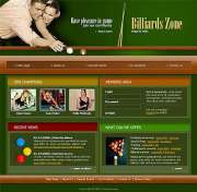 Billiard - Website template