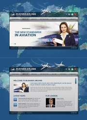 Business Airlines - HTML5 templates