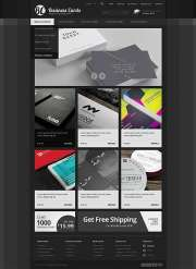 Business cards - OpenCart templates