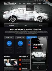 Car washing - HTML template