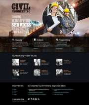 Civil Engineering - HTML template