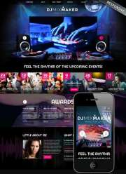 DJ Music - HTML template