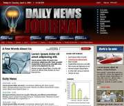 Daily news - HTML template