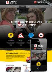 Driving School - HTML template