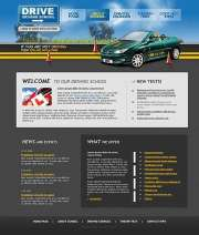 Driving school - Website template