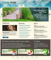 Exterior design - Website template