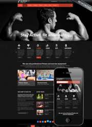 Fitness club v3 - Joomla templates