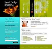 Floral design - Website template