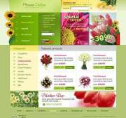 Flowers store - HTML template