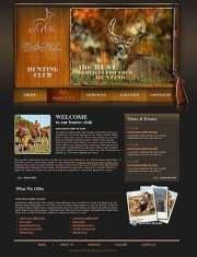Hunters club - Website template