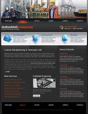Industrial Company - Website template