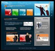 Internet marketing - Website template
