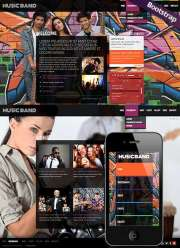Music Band - HTML template