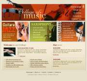 Music College - Website template
