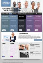 Open Business - HTML template