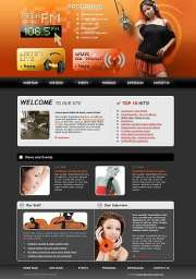 Radio FM - Website template