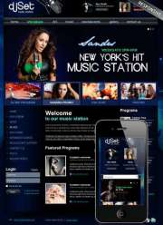 Radio Station v3 - Joomla templates