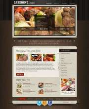 Recipes and catering - HTML template