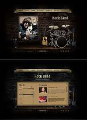 Rock Band - HTML5 templates