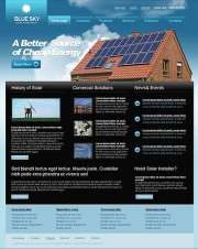 Solar Energy - Website template
