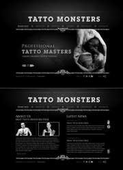 Tatto and piercing - HTML5 templates
