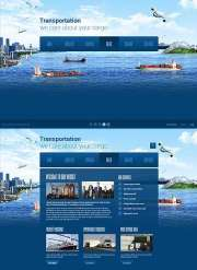 Transportation Paralax - HTML5 templates