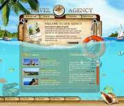 Travel agency - Flash template