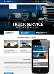 Truck service - HTML template