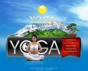 Yoga club - Flash template